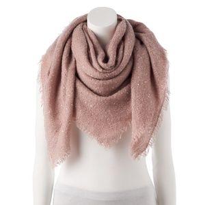 NWT! Lauren Conrad Pink Blanket Scarf